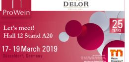 Delor auf der ProWein vom 17. bis 19. März 2019!